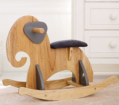 Wood Elephant Rocker