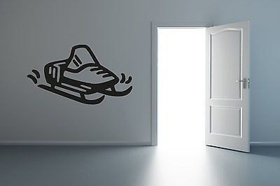 Kids Ski-Doo Arctic Cat Polaris Yamaha Snowmobile Wall Art Sticker Decal R018