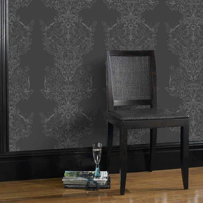 50 Best Images About Home Wallpaper On Pinterest Damask