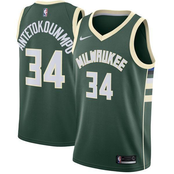 Men 34 Giannis Antetokounmpo Jersey Green Milwaukee Bucks Swingman Fanatics Cheap Nba Jerseys