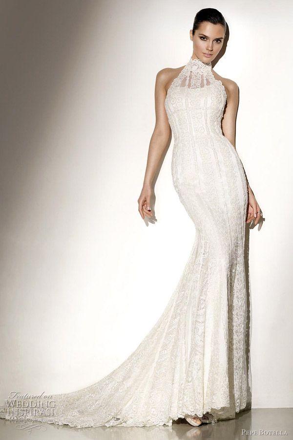17 best images about halter wedding dresses on pinterest for Choker neck wedding dress