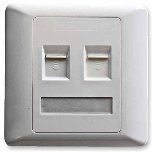 Double Deux Bande Cat5 Prise de Courant / 2G Cat5 Plaque Murale Panneau / Double Port Ethernet/Port Réseau / Chargée / Blanc: Cet article…