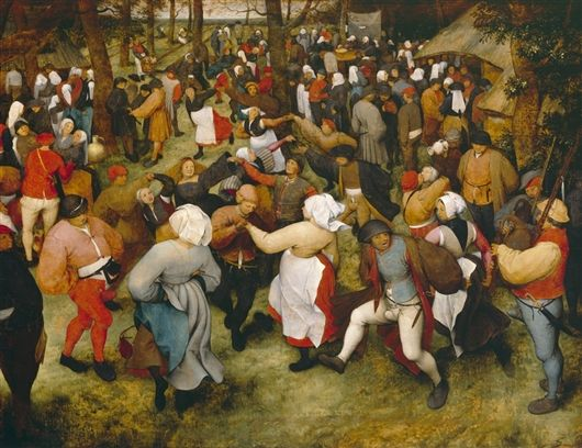 pieter bruegel the elder(1525-69), the wedding dance, c. 1566. oil on panel, 119.4 x 157.5 cm. detroit institute of the arts, usa http://www.dia.org/object-info/d33ac9fb-e03b-4287-923e-c5e42b7f65e6.aspx; http://www.the-athenaeum.org/art/detail.php?ID=38068
