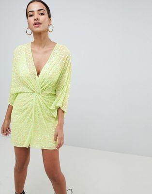 05acc34ddcef ASOS DESIGN mini kimono dress in sequin Asos Petite, Fashion Advice, Summer  Wedding Guests