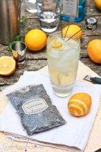 Lavender Meyer Lemon Tom Collins Cocktail - Gimlet