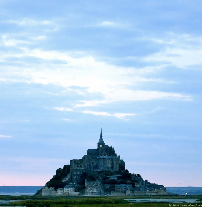 Mont St Michel in the evening