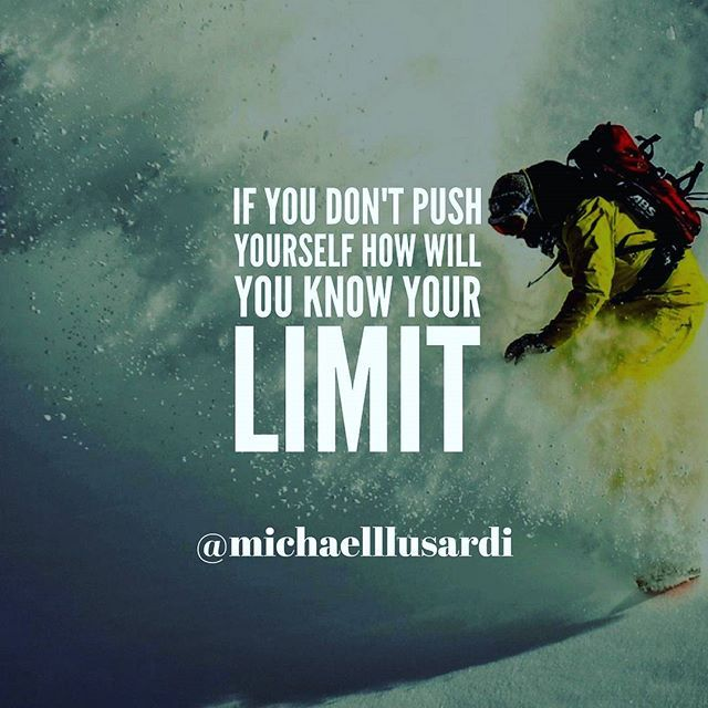 Reposting @michaelllusardi: You will never know how far you can go if you do not push yourself past what you already know.  Life is about growth. If you are not growing you are always going to be in the same place you have always been.  Start pushing past your current limits.