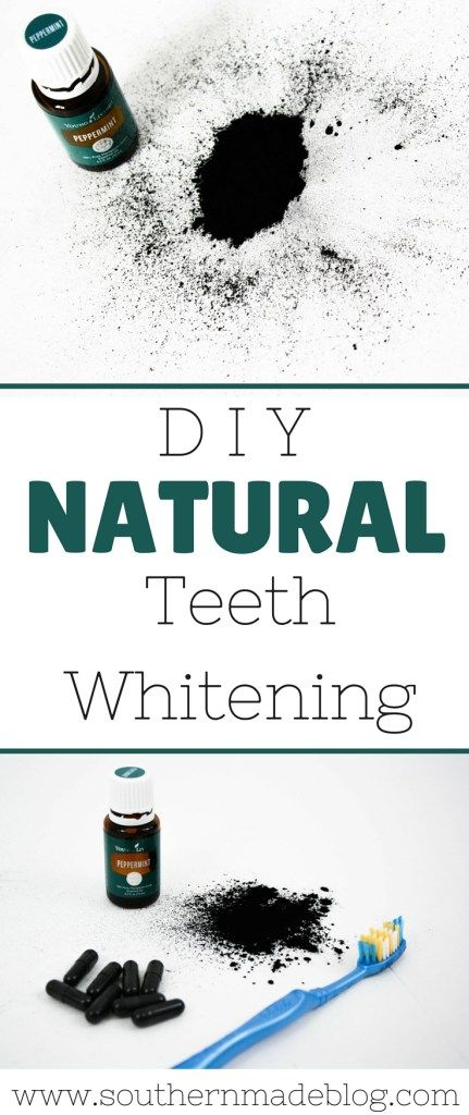 DIY Natural Teeth Whitening | Southern Made Blog | My secret to white teeth is activated charcoal and peppermint essential oil! It's all natural and DIY!