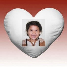Heart pillow with your printed photo