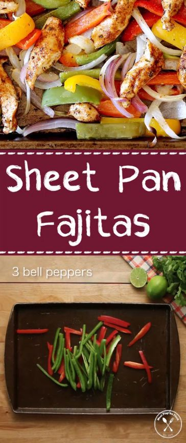 Sheet Pan Chicken Fajitas Bowl  Let the oven do all of the work for these Sheet Pan Chicken Fajitas. All you need is one pan and about 20 minutes to have a healthy and wholesome meal prep ready for the entire week! #mealprep #fajitas #recipe