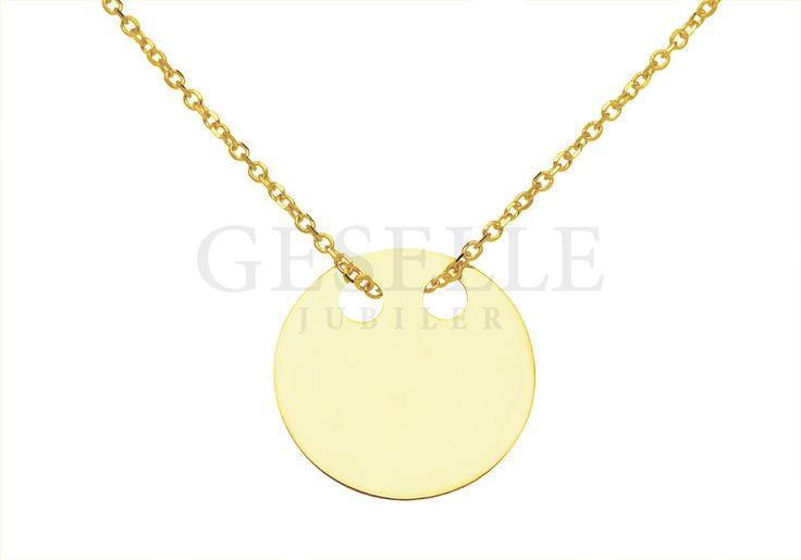 Naszyjnik gwiazd - złota celebrytka z pełnym kółeczkiem - pastylką | ZŁOTO \ Żółte złoto \ Komplety NA PREZENT \ Pod choinkę od GESELLE Jubiler