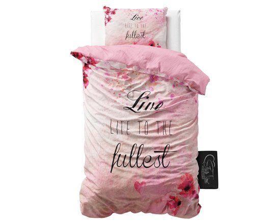 Sleeptime Katoen Fullest - Dekbedovertrek - Eenpersoons - 140x200/220 cm + 1 kussensloop 60x70 cm - Roze