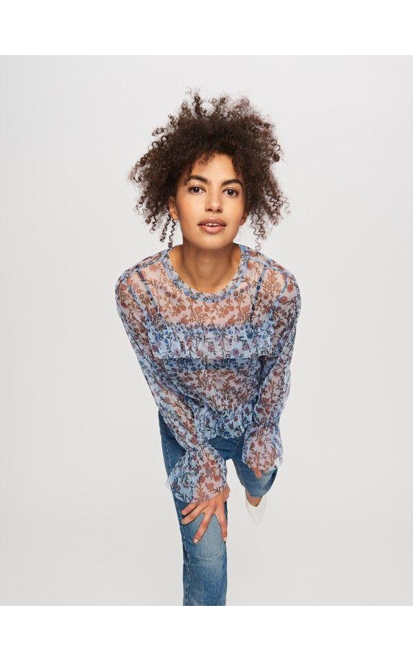 Блузка в цветы, Новинки, многоцветн, RESERVED