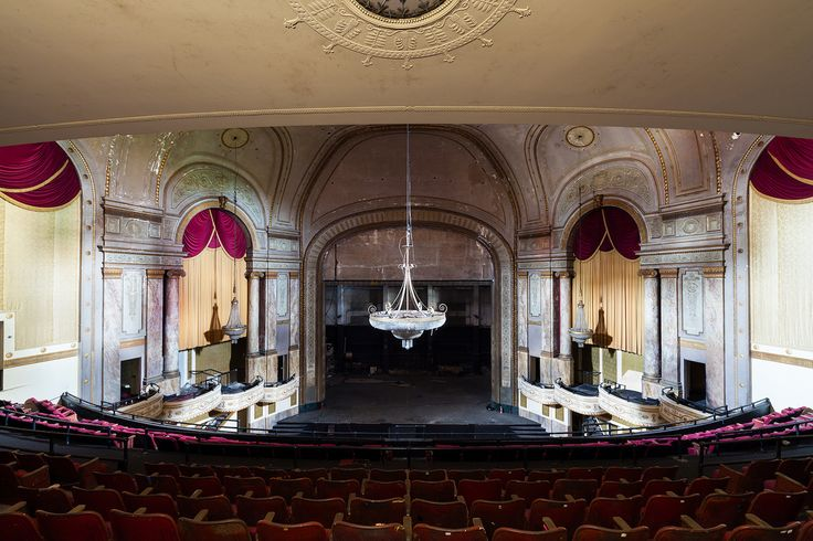 15 Eerily Beautiful Photos of Abandoned Movie Theaters | Mental Floss [State Palace Theatre in New Orleans, Louisiana opened on April 3, 1926. It eventually became a live performance venue. After closing due to the damages caused by Hurricane Katrina, the theater reopened sporadically as a rave venue. It was shut down on February 15, 2007 due to fire code violations.]