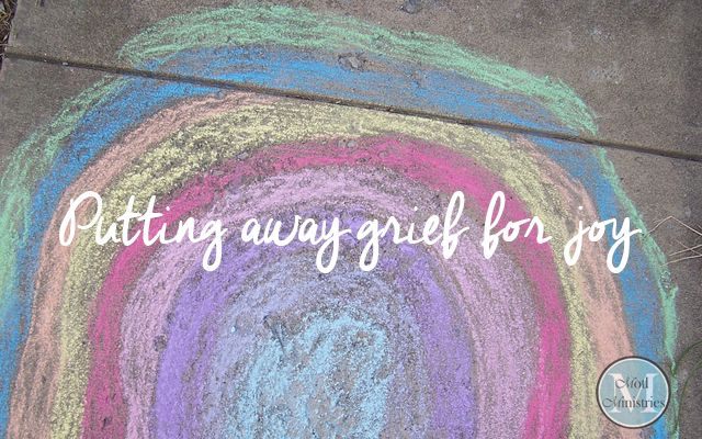 So, remove grief and anger from your heart and put away pain from your body, because childhood and the prime of life are fleeting. Ecclesiastes 11:10 NASB http://www.motlministries.org/2016/08/putting-away-grief-for-joy/
