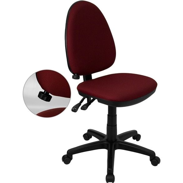 Serta Fabric Multifunction Managers Office Chair. Ihome Boswell Mid Back  Burgundy (red)