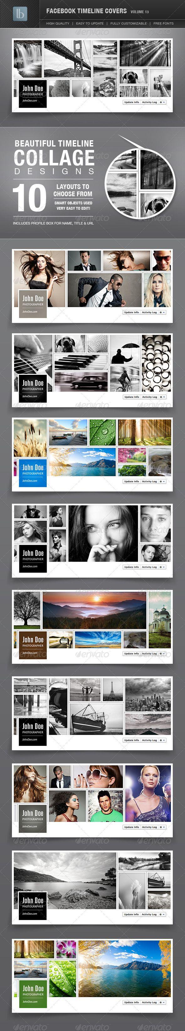 Facebook Timeline Covers | Volume 13 - GraphicRiver Item for Sale web design