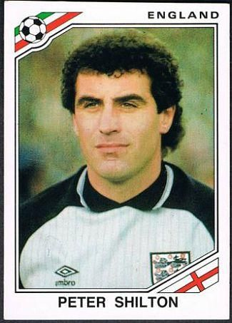 Peter Shilton Mexico 86 World Cup Panini Sticker