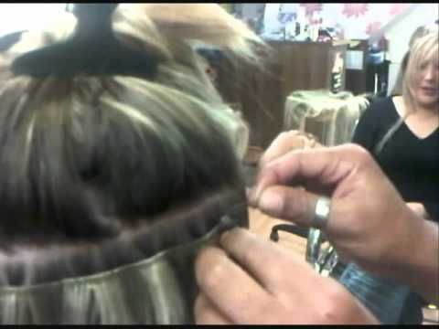 100% Human Hair Extensions Before & After Micro Ring Weft Northern Ireland - YouTube