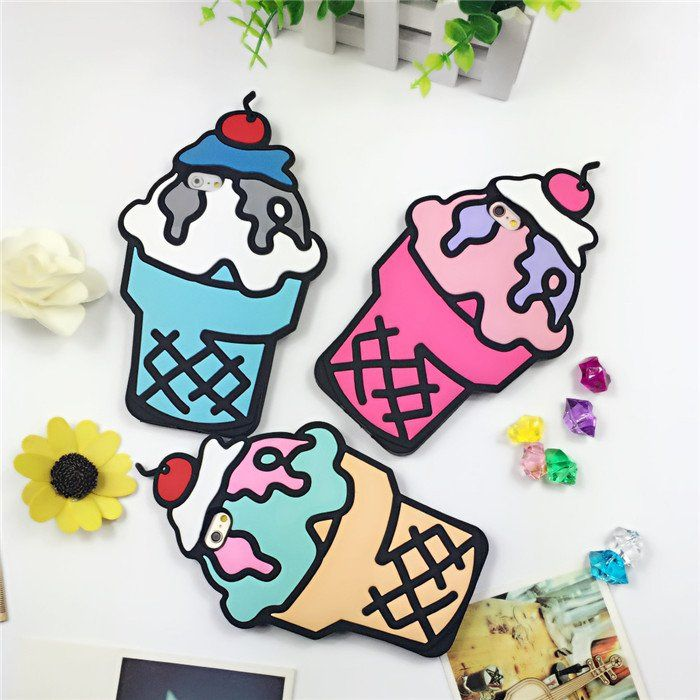 These custom designed Ice Cream Cases are a MUST HAVE! Designed with premium high quality silicon material. Provides full protection to your iPhone from scratches and dirt. Perfect cutouts allow you t