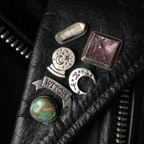 "etsycult: "" Witch Banner Lapel Pin by SoliloquyJewelry """