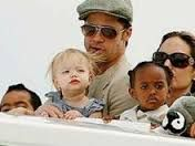 Angelina Jolly and Brad Pitt during their stay in Thirassia, Santorini island, Greece.  Selected by www.oiamansion.com