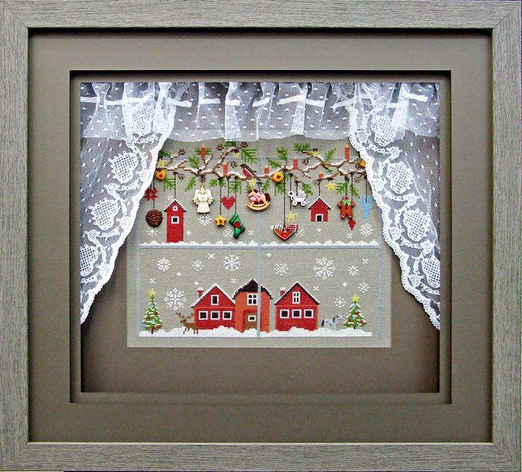 unique cross stitch framing
