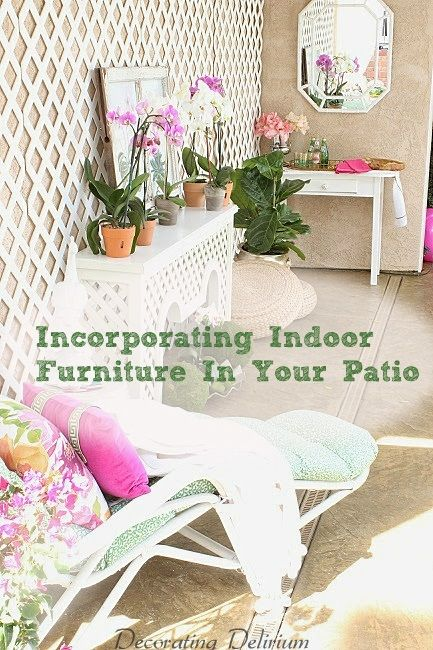 Got a large patio to decorate and a small budget?  Here are 5 ideas for bringing indoor furniture outdoors