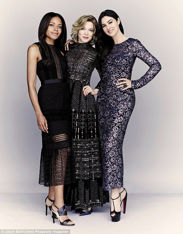 Monica Bellucci, Lea Seydoux and Naomie Harris for United Airlines' Rhapsody Magazine November 2015 - (L-R) Self Portrait, Valentino, Chanel