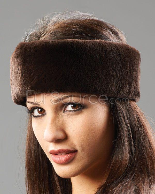 Fur Headband - Brown Sheared Beaver Fur