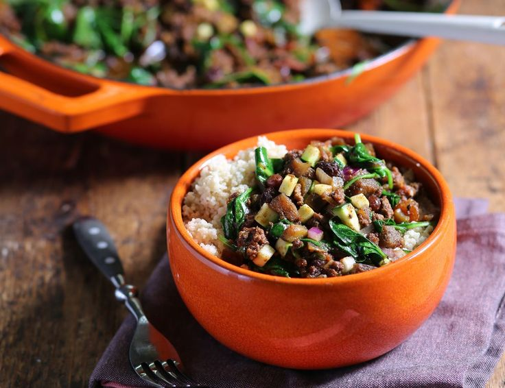 Slow Cooked Turkish Spiced Lamb Mince with Couscous Recipe | Abel & Cole
