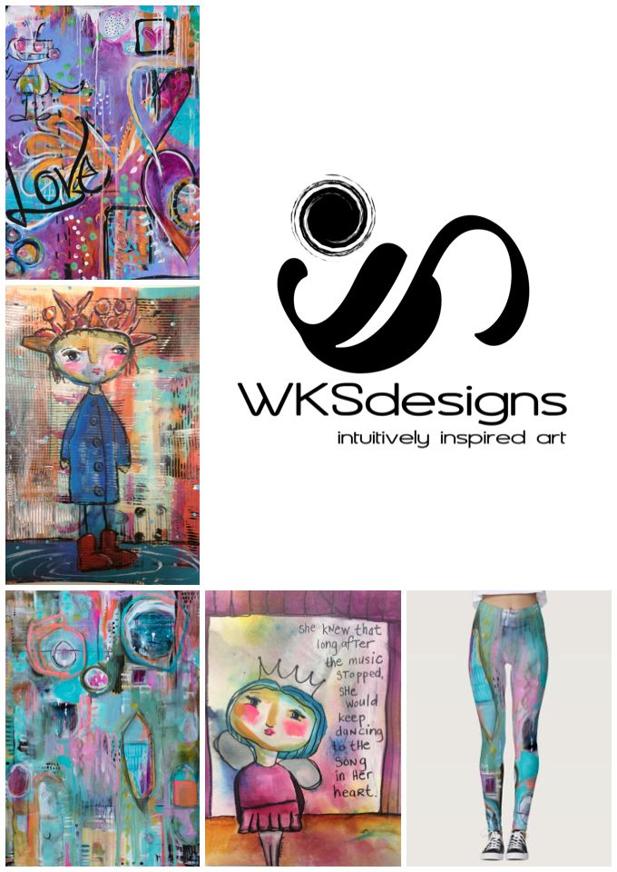 #WKSdesigns is an intuitively inspired, mixed media artist. Stop by and see her designs featured on canvas, leggings, cosmetic bags, totes, cards and journals, at #LowertownPop2018. Sat, March 24 at @UnionDepot, from 10-4.  #art #mixedmedia #artist #MNmaker #makersgonnamake