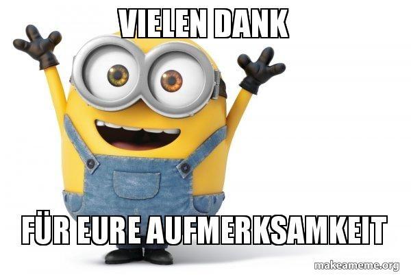 Vielen dank f r eure aufmerksamkeit happy minion make a meme deutsch lehren pinterest for Aufmerksamkeit englisch