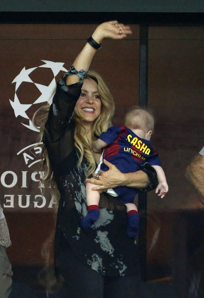 Shakira Can't Contain Her Excitement at Gerard Piqué's Champions League Final