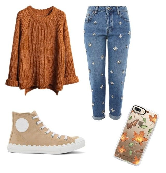 """Fall outfit🍂"" by saez-javita on Polyvore featuring moda, Topshop, Chloé y Casetify"
