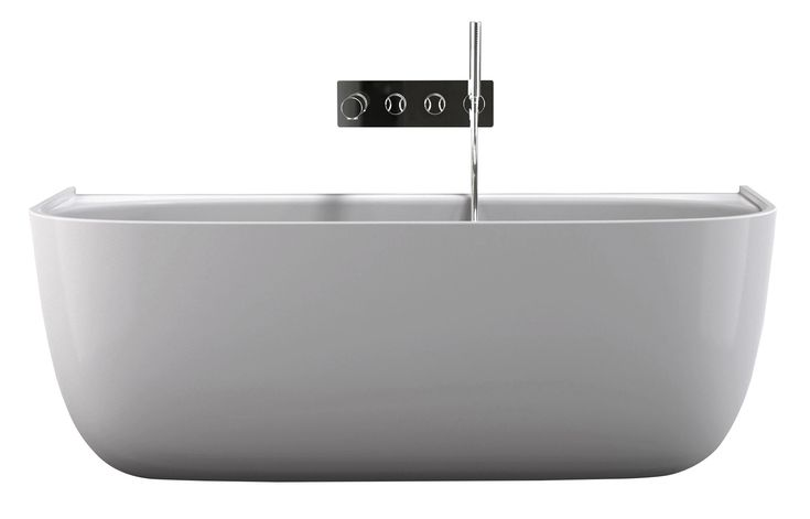 Eldon tub by Victoria + Albert From $5,600  Measuring 69 inches long, the Eldon back-to-wall tub was born from a collaboration between manufacturer Victoria + Albert and design studio Conran + Partners. The long-lasting Quarrycast material is made of a combination of volcanic limestone and resin.