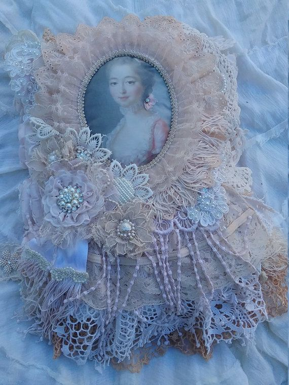Rococo fabric Journal by VintagedollVa on Etsy