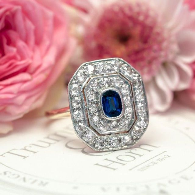 3 Brilliant, Antique Sapphire Engagement Rings To Die For