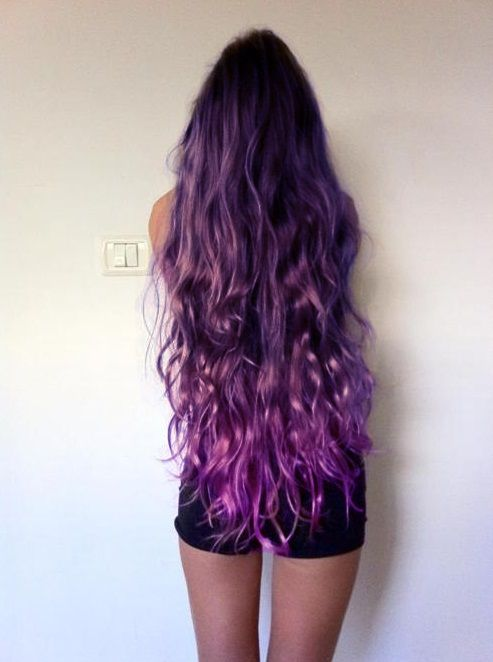 When I get to the stage where I allow Goose to color her hair! She would love this: long purple mermaid hair, perfect