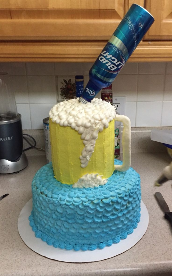 Bud light beer mug cake!