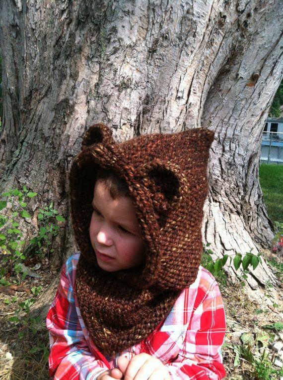 Bear, Hoodie, Hood, Ewok, Cowl, Star Wars, Hand Knit ...