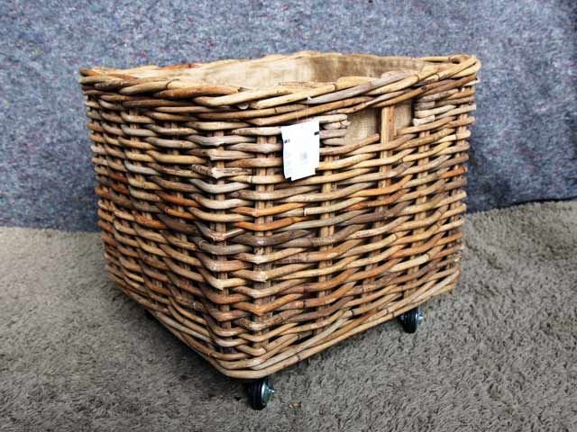 Dorset Square Baskets With Wheels #wicker #basket #storage #laundry