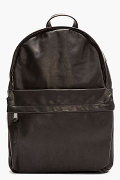 SILENT BY DAMIR DOMA Black Leather Bost Backpack on shopstyle.com