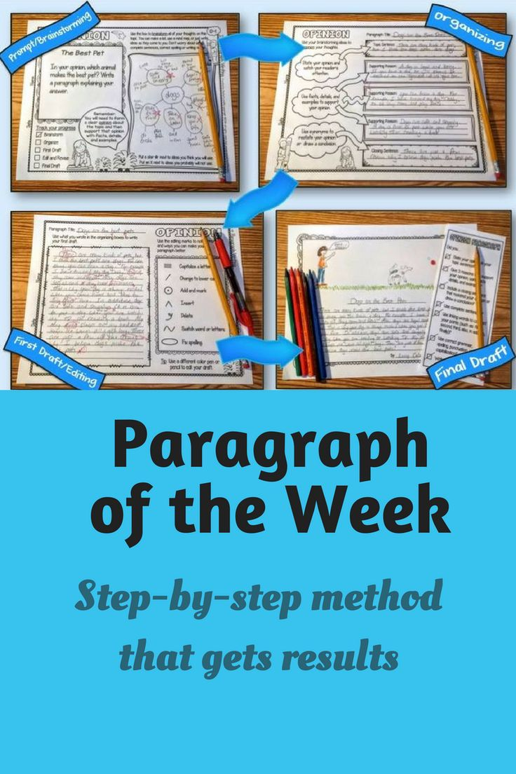 Step by step strategies for implementing a paragraph of the week program that will get your students writing great paragraphs in no time!  #paragraphoftheweek #paragraphwriting #writing