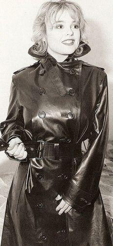Vintage Black Rubber Raincoat - an all-time classic smile in an all-time classic raincoat - sweet memories!