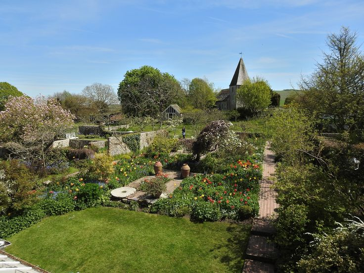 The view of the garden at Monks House from Leonard Woolf's balcony.