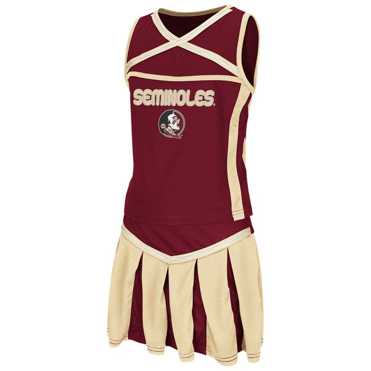 Florida State Seminoles Colosseum Girl's Youth Handspring Cheerleader Set - Garnet