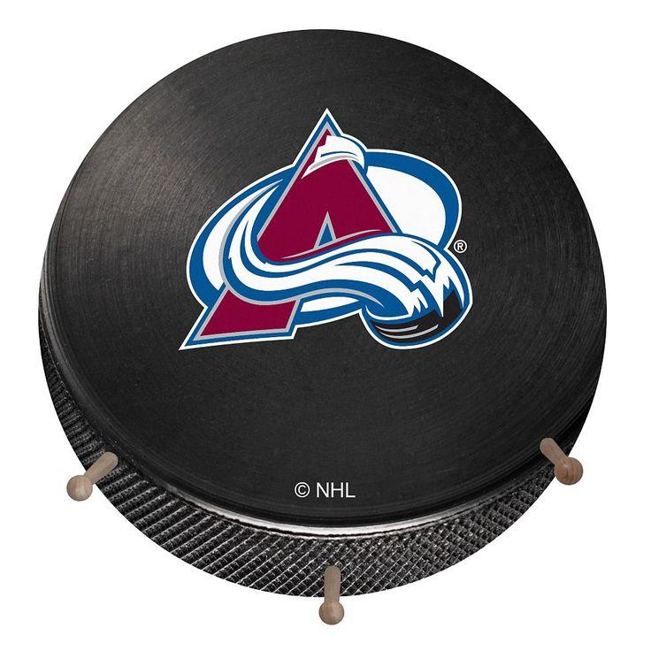 Colorado Avalanche Hockey Puck Coat Hanger, Multicolor