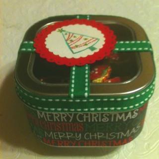 Christmas tin.