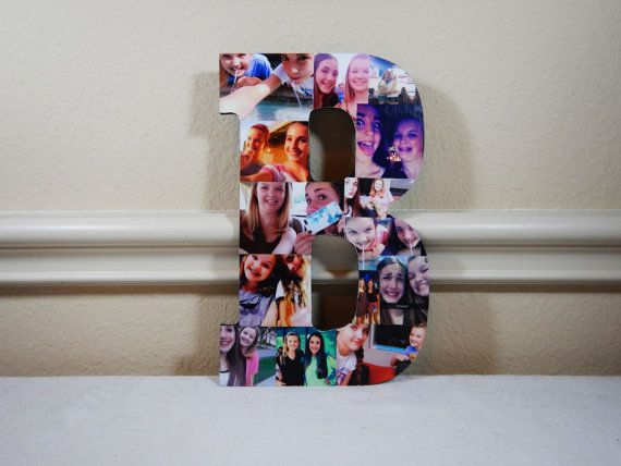 Custom Photo Collage Letter Photo Collage Wood by LybelleCreations